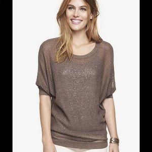 Express Mesh Dolman Knit Sweater Top